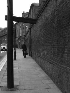 taxi, london, pedestrian, black and white